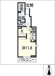 アカンサス II[1階]の間取り