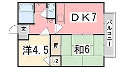サンシティ小林[2-B号室]の間取り
