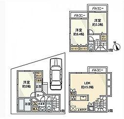 [一戸建] 神奈川県横浜市旭区今宿西町 の賃貸【神奈川県 / 横浜市旭区】の間取り