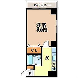 しゃとうde田川[203号室]の間取り