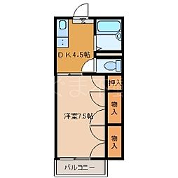 ハイムイワクラ[2階]の間取り