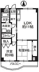HACHIBUSE東大阪(ハチブセ東大阪)[5階]の間取り
