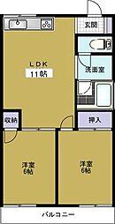 第6柴田ビル[5階]の間取り