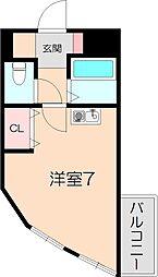千里園Cube&Wall[104号室]の間取り