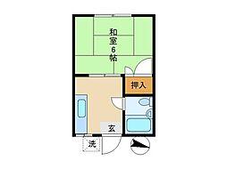 東京都杉並区浜田山3丁目の賃貸アパートの間取り