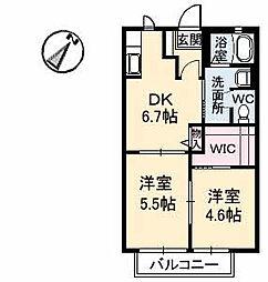 シャンティアオギ2 E棟[E102号室]の間取り