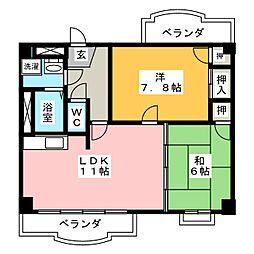 パープリーG−フラット[2階]の間取り