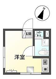 ルーミング白樺[1階]の間取り
