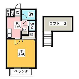 市川第5ハイツ[2階]の間取り