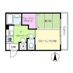 中山ファーム ガーデン棟[3階]の間取り