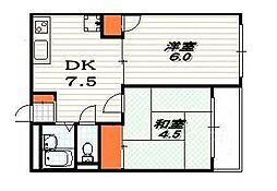 富小路マンション[4階]の間取り