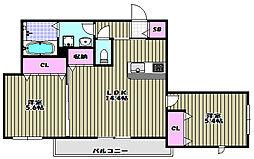Casa Regio堺東[3階]の間取り