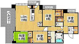 福岡県春日市星見ヶ丘2丁目の賃貸マンションの間取り