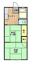 コーポ鎌倉 102号室[102号室]の間取り