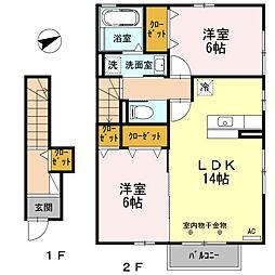 Comfort・N(コンフォート・エヌ)[202号室]の間取り