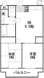 パストラルマンションMII[2階]の間取り