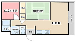 グランドハイツ澤野井[103号室]の間取り