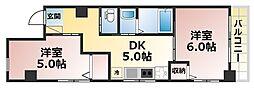 稗田ハイム[4階]の間取り