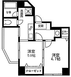 クレール羽田[0303号室]の間取り