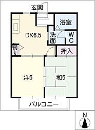 ハムレット95 B棟[2階]の間取り