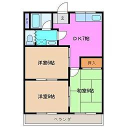川方マンション[2階]の間取り