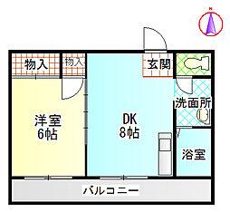 富士昭和ビル1[2階]の間取り