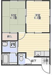 シーフロント[B201号室]の間取り