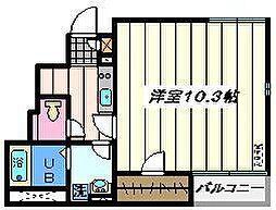 東京都葛飾区奥戸1丁目の賃貸アパートの間取り