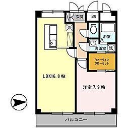 夙川ニューコーポ[5階]の間取り