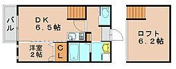 ビータス筥松壱番館[2階]の間取り