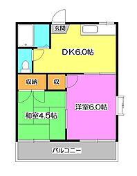 沖山ハイツ2[2階]の間取り