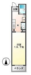 ハウス108泉[4階]の間取り