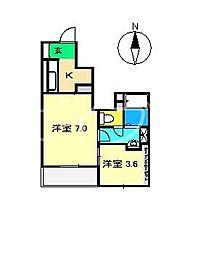 メゾンコリーヌ[1階]の間取り
