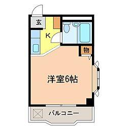 パウゼ河内長野駅前 4階1Kの間取り