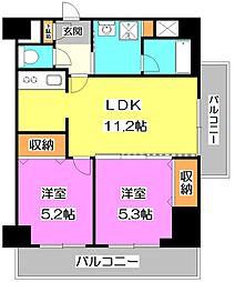 東京都練馬区中村南3丁目の賃貸マンションの間取り