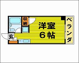大阪府吹田市垂水町3丁目の賃貸マンションの間取り