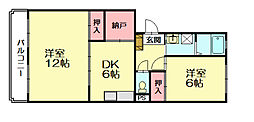 レジデンス牛房[1階]の間取り