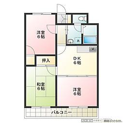 高倉マンション[2階]の間取り