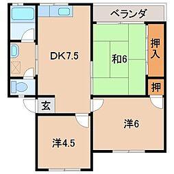 プチハイツ華[2階]の間取り