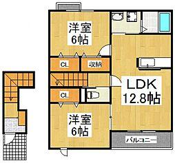 ボナールII[2階]の間取り