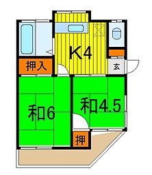 いづみ荘[101号室]の間取り