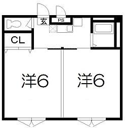 プレジデント河合[3階]の間取り