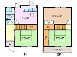 [テラスハウス] 三重県四日市市尾平町 の賃貸【/】の間取り