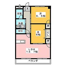徳重セントラルビル[3階]の間取り
