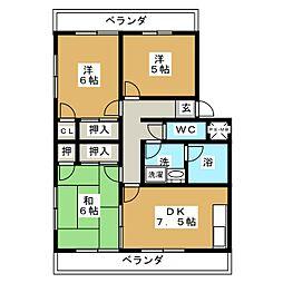 メゾン宝樹[3階]の間取り