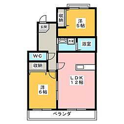 三重県伊賀市平野東町の賃貸マンションの間取り
