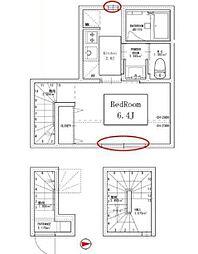 東京メトロ丸ノ内線 四谷三丁目駅 徒歩6分の賃貸アパート 3階1Kの間取り