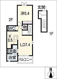 キャッスルYAYOI[2階]の間取り