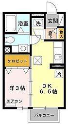 大阪府八尾市太子堂2丁目の賃貸アパートの間取り