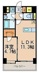 NOBLE RICH 博多[6階]の間取り